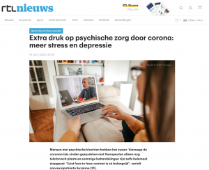 Extra druk op psychische zorg door corona